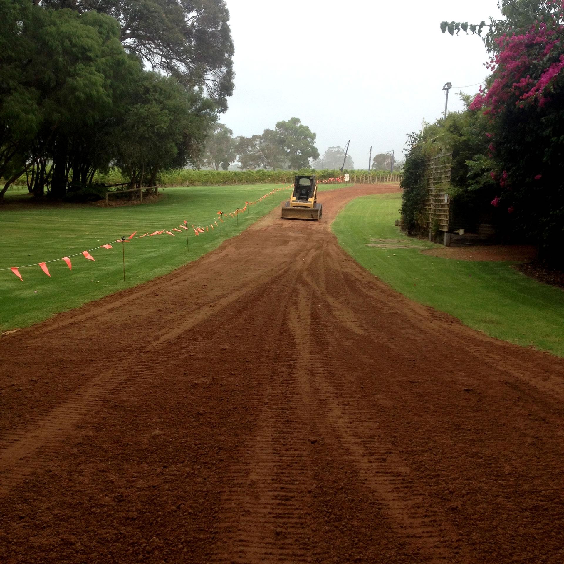 Acreage driveway cutting and preparation gold coast Brisbane