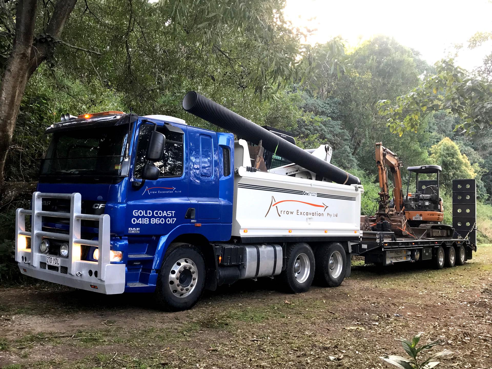 Arrow Excavation Excavator Bobcat Truck Combo Hire Gold Coast Brisbane