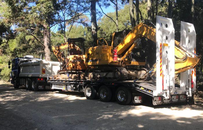 Arrow Excavation Heavy Machinery Float Relocation Gold Coast Brisbane