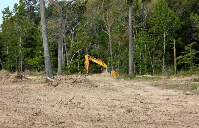 Weed scrub tree land clearing