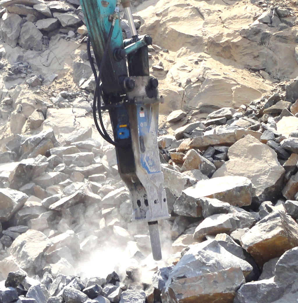 hydraulic rock breaker excavator attachment hire gold coast brisbane