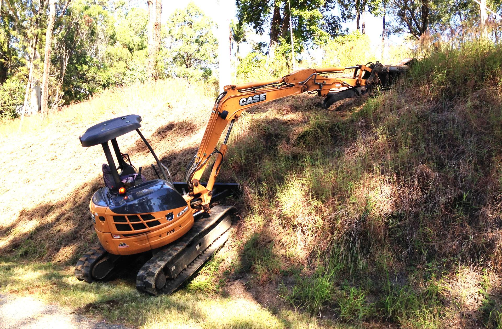 slope hill embankment slashing gold coast brisbane