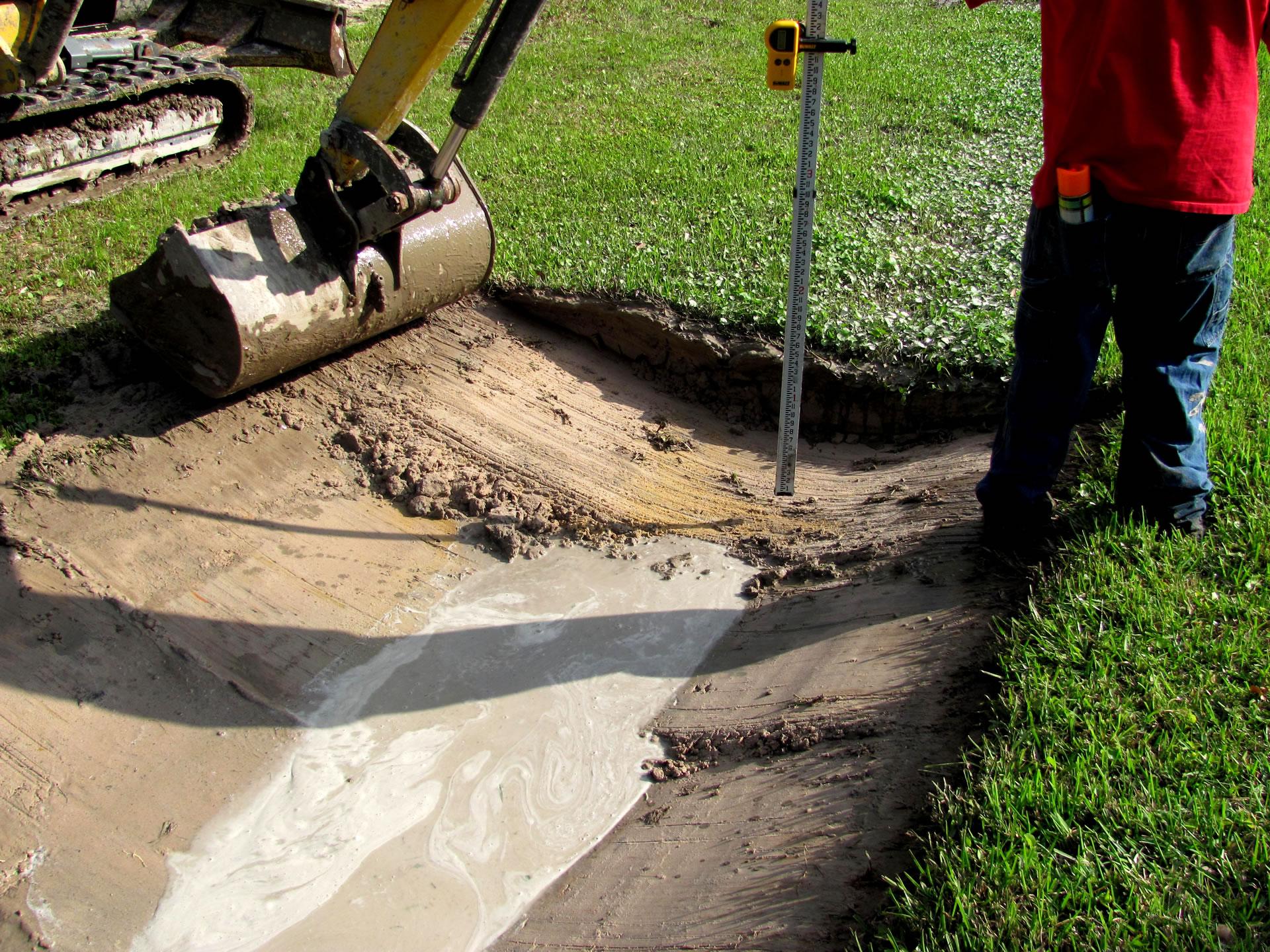 spoon drain drainage channel digging gold coast brisbane